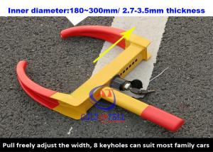 China A3 Steel SUV / Motorcycle /  Motorhome Wheel Clamps Suit Width 180 - 300mm Wheel on sale