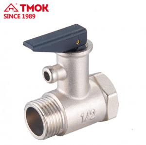 China Water Boiler Brass Pressure Relief Valve With Plastic Handle on sale