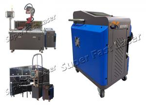 China Touch Screen 100W Pulse Energy Fiber Laser Descaling Machine on sale