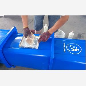 China G120 The Public Place Recycling Waste Bin with lid and wheels print free logo on sale
