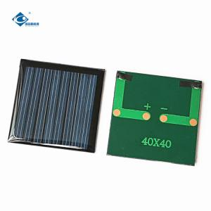China epoxy adhesive 4V Poly crystalline solar panel ZW-4040 Lightweight Silicon Solar PV Module 0.15W on sale