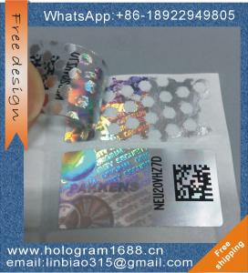 China Custom logo 3d honeycomb pattern  hologram sticker, tamper evident void hologram sticker label on sale