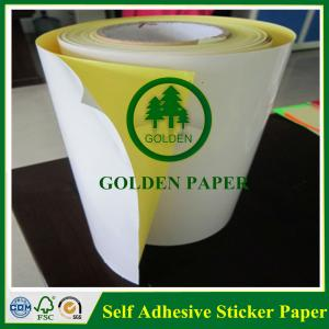 China Self adhesive customized cmyk sticker printing paper on sale