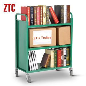 Mobile Steel Library Bookshelf Metal Bookcase Cart Trolley With Wheels Rca 3s