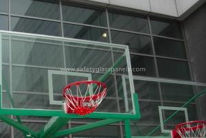 China Inground Basketball Hoops 54 Tempered Glass Backboard / Glass Basketball Goals on sale