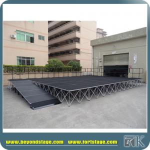 China Mobile stage with ramps portable stage with aluminum risers hot sale to USA market on sale