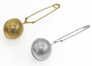 China Silver Rose Gold Stainless Steel 304 Tea Ball Strainer on sale