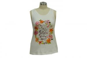China Round Neck Flowy Ladies Tank Tops White Camisole Tank Top Lace Stitching Shoulder on sale