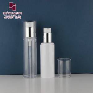 China 120ml Custom Recyclable PCR Material Empty Lotion Pump Flat PET Bottle on sale