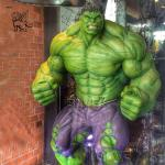 Marvel Superhero Fiberglass Hulk Statue Life Size Resin Sculpture