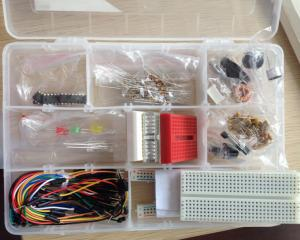 China Small Solderless Breadboard Experiment Project Kit With Many Components on sale