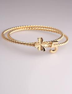 China Fashion Korean Luck Number Leaf  Bracelet for Women in Jewelry Factory Direct 2015 on sale