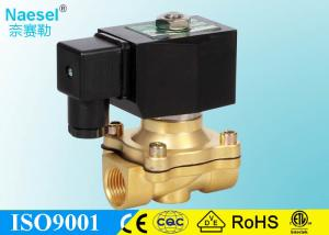 China 1 / 2 Inch Solenoid Shut Off Valve For Water With IP65 DIN Terminal Coil on sale