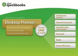 China Genuine QuickBooks Desktop Premier 2018 with Industry Edition Small Business Accounting Software 1-Year Subscription on sale