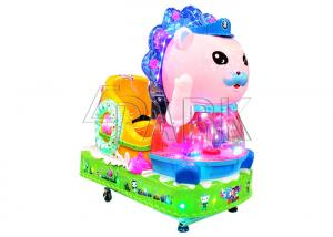 China Cute Cat kids ride with animated movies amusement park kids swing car game machine on sale