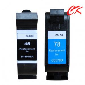China 45 ink cartridge/78 ink cartridge for 51645A/51678A/HP Deskjet 710c/720c/815c/820cxi on sale