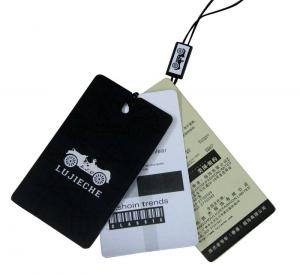 China Light Recycle Paper Clothing Hang Tags , Offset Printing With Swign Drops on sale