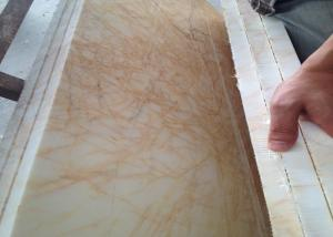 Quality Custom Cut Golden Spider Marble Floor Slabs For Corridor Balcony
