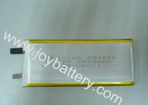 China 604296 3.7V 2800mAh lithium polymer battery cell,604296 li ion battery pack 3.7V 2800mAh on sale