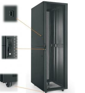 Quality Ral 9004 Vented Network Cabinet 22u Home Rack For
