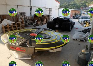 China Cartoon statue spaceship model same in cartoon movie fiberglass as  in car shop/ Celebrating party on sale