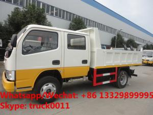 China 2018s best price 3tons double cabs diesel engine dump tipper truck for sale, HOT SALE! mini diesel tipper truck on sale