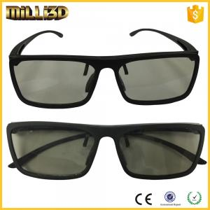 China Circular or linear Polarized Disposable Universal 3D Glasses Cinema black color on sale