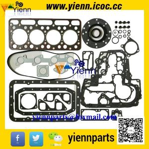 China Kubota V1702 V1702BA engine rebuild parts piston +ring+full gasket kit with head gasket for BOBCAT CLART 743 SKID LOADER on sale