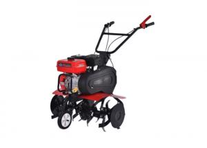 China Gasoline Hand Push Garden Cultivator 6.5HP Petrol Power Tiller Machine on sale