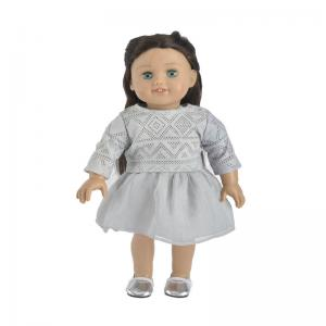China matching dresses for 18 young girl doll cloth supplier