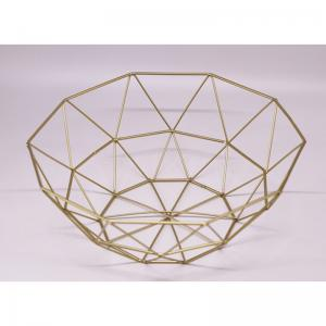 China Fashion Design Furnishing Metal Wire Storage Basket Fruit Basket on sale