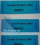 Void Hologram labels stickers,sliver tamper evident security VOID label,adhesive moon rock pre cotton size label roll vo
