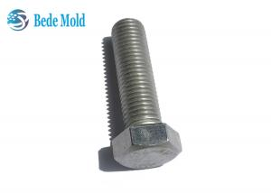 China Length 50~200mm Threaded Stud Bolt , M24 Stainless Threaded Rod DIN 933 Standard on sale