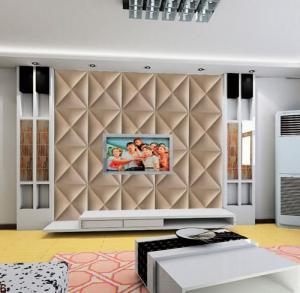 Quality Pvc Tiles Wall Interior Fire Resistant Leather Decoration Panel For