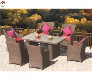 China outdoor or indoor poly rattan dining set furniture RMS70003R on sale