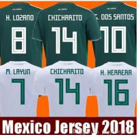 China Thailand MEXICO SOCCER JERSEYS 2018 CHICHARITO LOZANO DOS SANTOS HERRERA LAYUN G DOS SANTOS GUARDADO CAMISETAS DE FUTBOL on sale