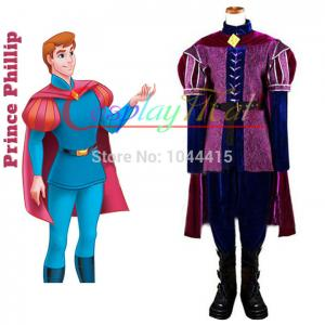 China Wholesale Sleeping Beauty Prince Phillip Cosplay Costume Movie Sleeping Beauty Dress on sale