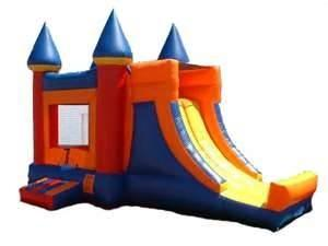 China Inflatable combo slide / bouncer house / slide jumper with princess for rent on sale