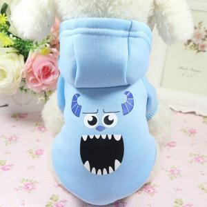 China Customized Pet Clothes Cartoon Dog Hoodie / Coat / Jacket With Print Pattern on sale