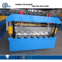 China Steel Structure Metal Roofing Roll Forming Machine PLC Control Automatic System on sale