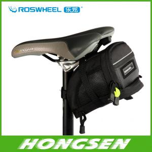 China Free shipping Bicycle bike Bag Saddle Back Seat Tail Bike Bag Pouch Basket Velcro straps M on sale