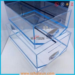 China 2016 acrylic sneaker box, acrylic shoe box, shoe storage box display rack on sale