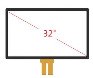 China PCT/P-CAP 32 Projected Capacitive Touch Screen Panel , High Resolution 1024x1024 on sale