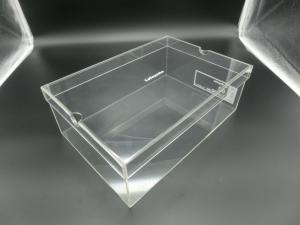 China Fashion Plexiglass Display Shoe Case / Plastic Acrylic Shoe Box Storage Organizer on sale