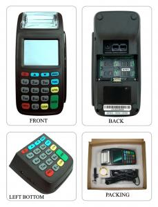 China New8210 3g mobile barcode nfc emv magstripe  reader POS terminal on sale