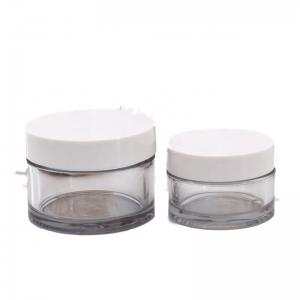 China Pot 10G Small Plastic Makeup Containers Mini Transparent Jar on sale