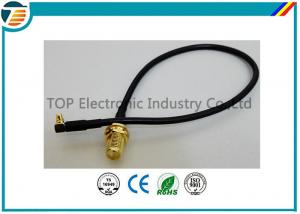 China 50 Ohms Pigtail RF Coaxial Cable , SMA Male Plug To MMCX Right Angle With RG174 Cable on sale