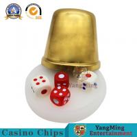 China VIP Club Entertainment Table Titanium Gold Copper Color Hand Dice Cup Poker Board Game Stainless Steel Gold Screen Cup on sale