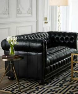 Quality French Sofa Linen Velvet Fabric Sofas Vintage Upholstered Black Leather Couch For