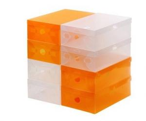 China colorful PP shoe storage box, ladies shoe box on sale